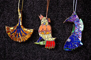 Ginkgo, Bird and Fish Ornaments