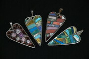 Four Heart  Pendants